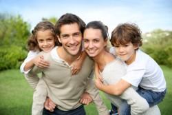 Familie mit Forward-Darlehen